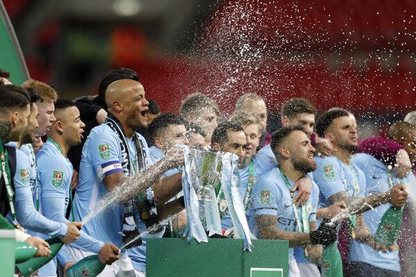 Hráči Manchestru City získali Ligový pohár.