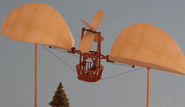 Model Bahýľovho riadeného balónu z roku 1894.