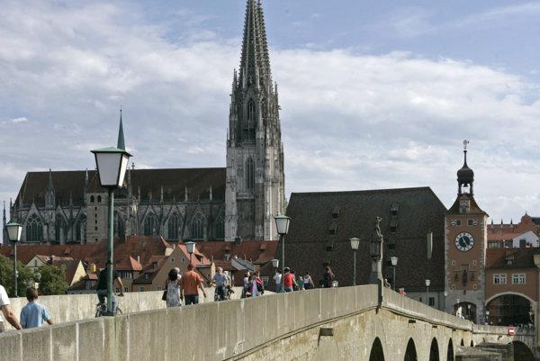 Katedrála v Regensburgu.