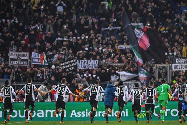 Juventus oslavoval dôležité víťazstvo.