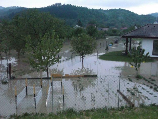 Záplavy v Streženiciach.