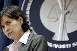 5. máj 2006. Ministerka spravodlivosti Lucia Žitňanská na tlačovej besede.