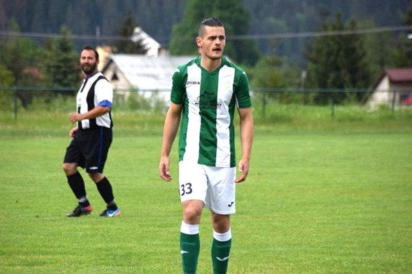 Roland Šmahajčík v drese FK Tatran Turzovka.