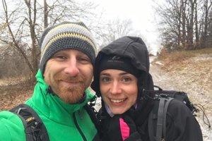 Aktívna dvojica. Gabika si s manželom Martinom užíva aktívny oddych.