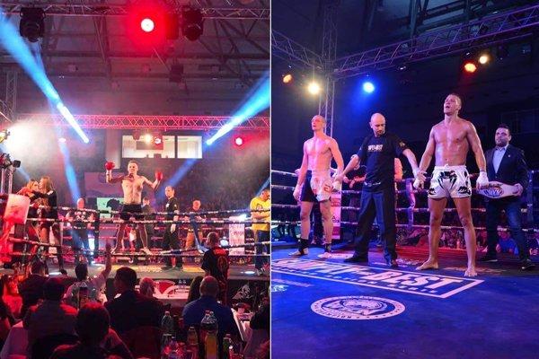 Vľavo Cyril Pažitný, na druhej snímke stojí vpravo Erik Matejovský. Obaja Nitrania boli v popradskom ringu úspešní.