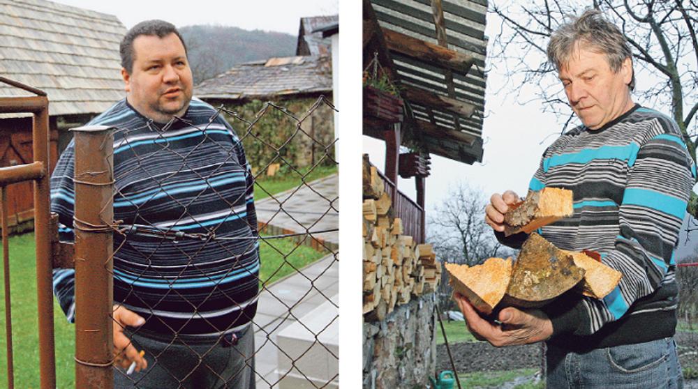 Pavol Baniari (vľavo) sa netají tým, že za župana volil Mariana Kotlebu. Dôchodca Tibor Zúbek (vpravo) je zástancom Smeru.