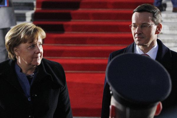 Angela Merkelová a Mateusz Morawiecki.
