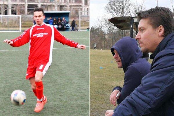 Tomáš Labuda rozhodol o výhre Jarku. Ľubomír Bernáth (vpravo) z Branču strelil štyri góly do siete Cabaja-Čápora.