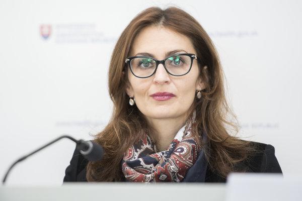 Štátna tajomníčka ministerstva zdravotníctva SR Andrea Kalavská.