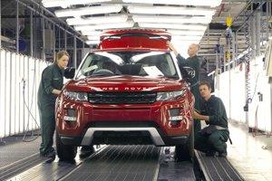 Výroba vozidiel Jaguar Land Rover v britskom meste Solihull.