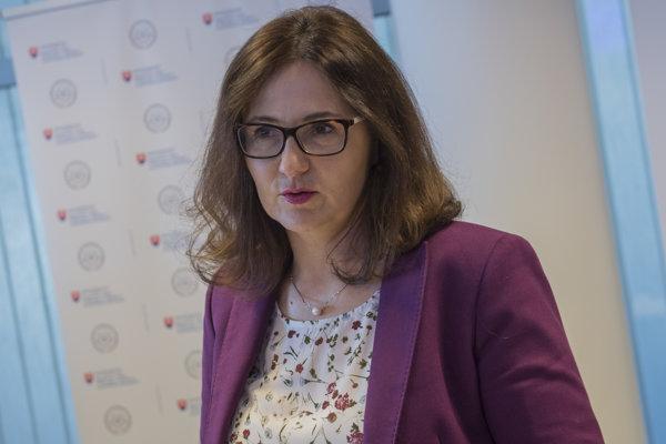 Ministerka Martina Lubyová.