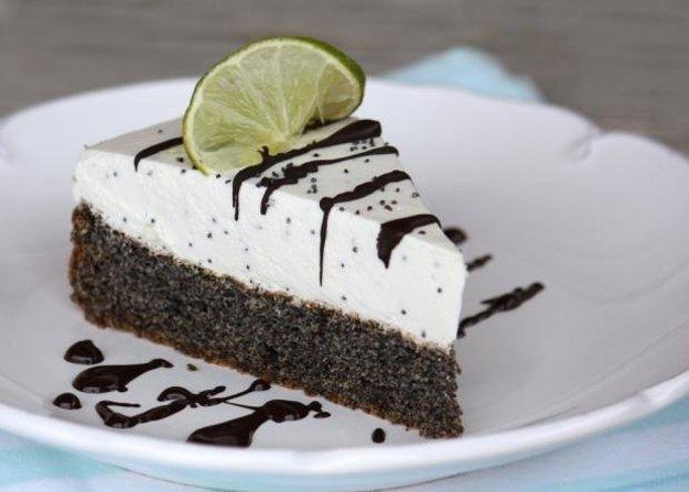 Makovo-smotanová nízkosacharidová torta