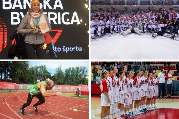 Medzi ocenenými nemohla chýbať naša najlepšia biatlonistka Nasťa Kuzminová, najrýchlejší veterán Vladimír Výbošťok či úspečné kolektívy hokejistov a basketbalistiek.