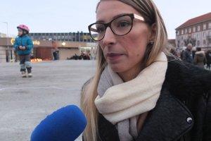 Organizátorka žiarskych protestov za slušné Slovensko Michaela Čillíková.