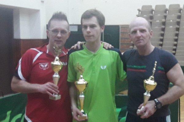 Turnaj vyhral Erik Eckhardt (v strede).