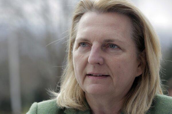 Šéfka rakúskej diplomacie Karin Kneisslová.