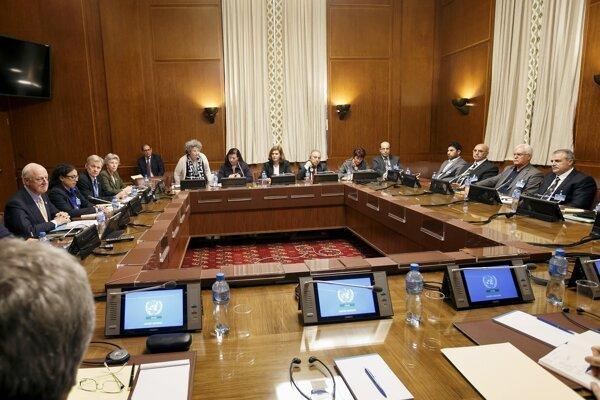Mierové rokovania vo Švajčiarsku za účasti sýrskej opozície.