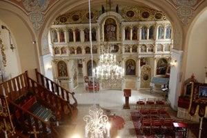 Na snímke pohľad na interiér gréckokatolíckeho chrámu v Klokočove v Michalovskom okrese.
