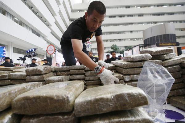 Polícia v Thajsku zaistili veľké množstvo drog.