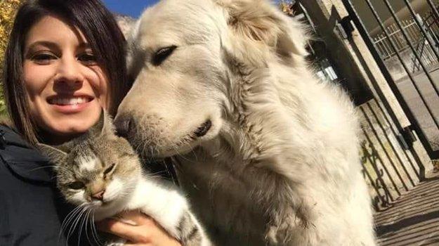 Majiteľka so psom Mirom.