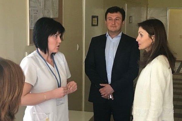 Ministerka v prešovskej nemocnici.
