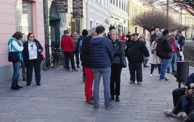 Na zhromaždenie v Prešove prišla aj Zlatica Kušnírová, mama zavraždenej Martiny.