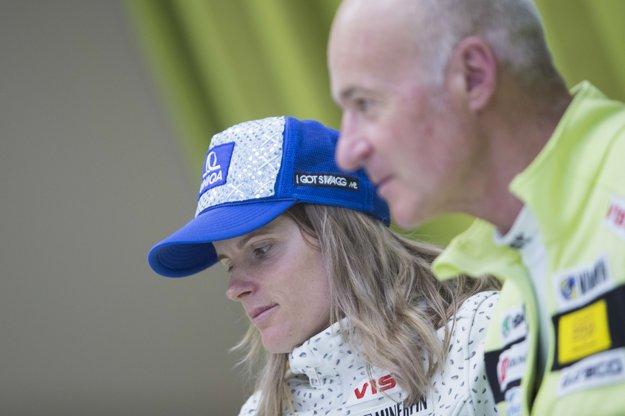 Slovenská lyžiarka Veronika Velez-Zuzulová jej otec Timotej Zuzula.