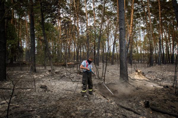 Nad Oravskou Jasenicou horí les.