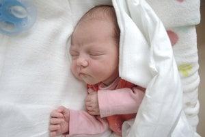 Mia Hiklová (2860 g, 47 cm) sa narodila 4. apríla Kataríne a Jakubovi zo Svinnej. Doma majú 11-ročného Jakuba.