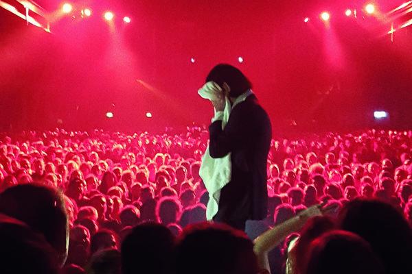 Nick Cave na koncerte v Kodani.