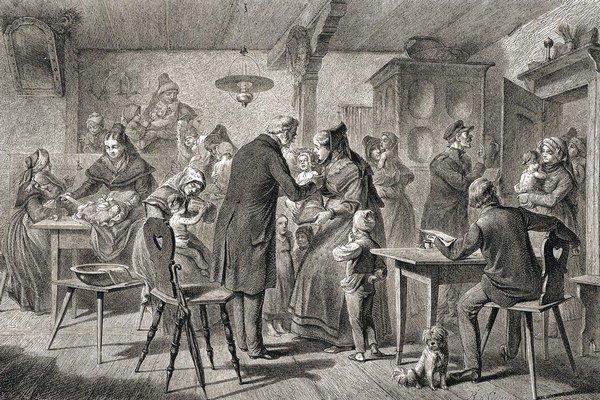 Očkovanie v roku 1869.