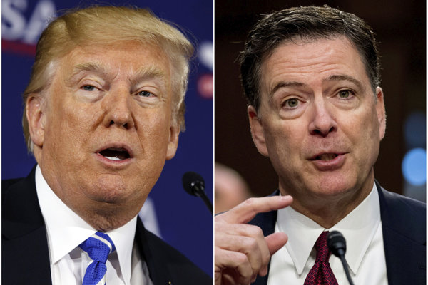 Donald Trump a bývalý riaditeľ FBI James Comey.