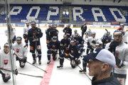 Tréning slovenskej hokejovej reprezentácie pred zápasmi Euro Hockey Challenge s Lotyšskom v Poprade.