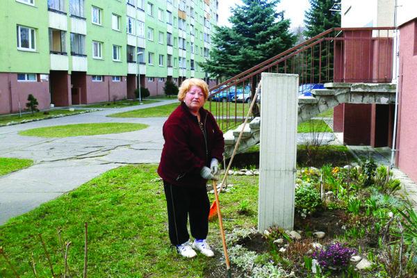 Helena Samolejová je vPriekope spokojná. Avšak chodníky by sa podľa nej už mali opraviť.