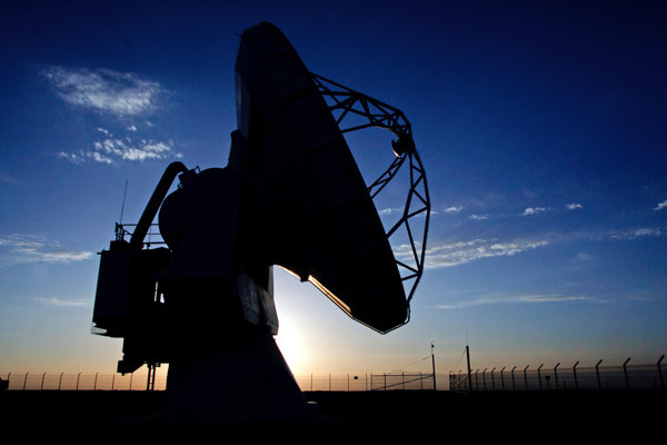 Rádioteleskop APEX v čilskej púšti Atacama.