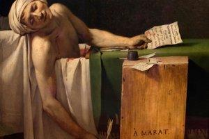 Známy obraz z Veľkej francúzskej revolúcie Smrť Marata. Zavraždený revolucionár zomrel vo vani, kde strávil takmer tri roky v kuse pre neznesiteľné svrbenie celého tela a bolesti hlavy.