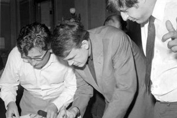 Ludvík Vaculík, Milan Kundera a Ivan Klíma na zjazde spisovateľov v roku 1967, ktorý výrazne urýchlil začiatok obrodného procesu.