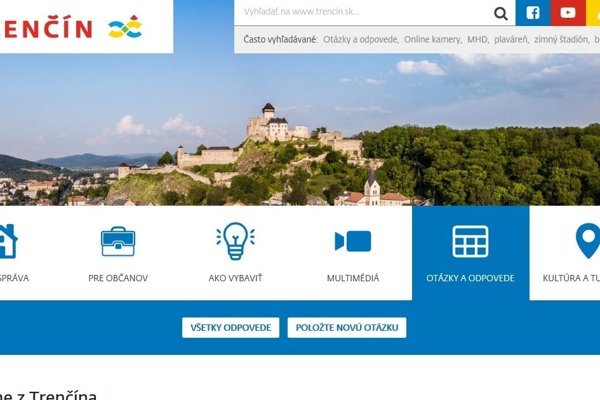 Nová webstránka mesta Trenčín.