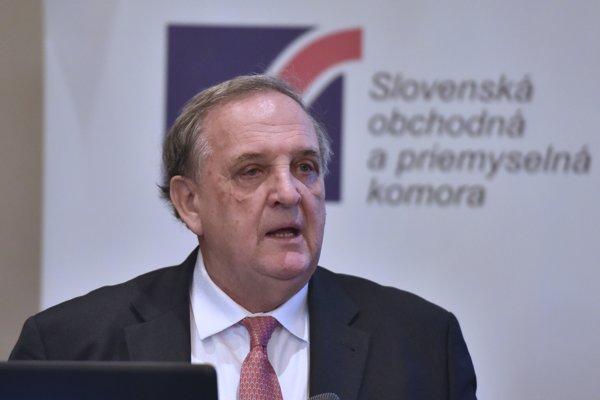 Predseda Slovenskej obchodnej a priemyselnej komory (SOPK) Peter Mihók.