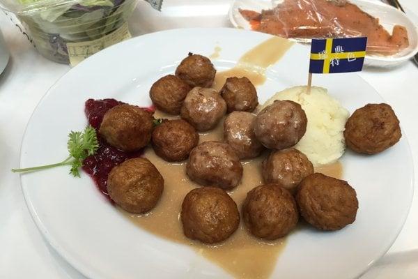"""Tradičný švédsky """"köttbullar""""."""