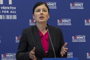 Eurokomisárka pre spravodlivosť a ochranu spotrebiteľov Věra Jourová.
