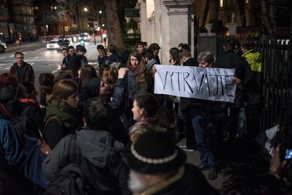 Demonštrácia v Londýne.
