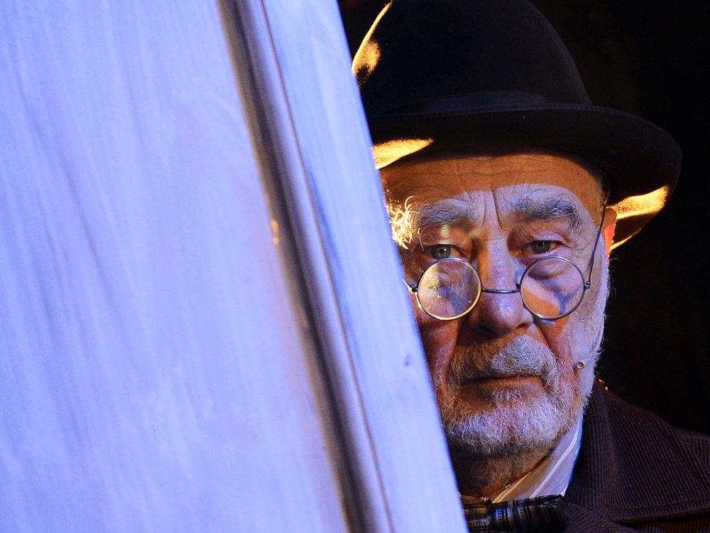 Na snímke herec Leopold Haverl (Jozef Katz) počas ukážky z muzikálu