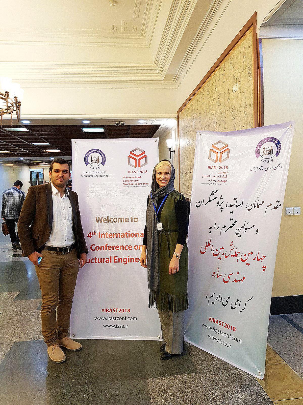 ac671f1d62 Erika Belopotočanová s organizátorom konferencie o stavebnom inžinierstve v  Iráne.