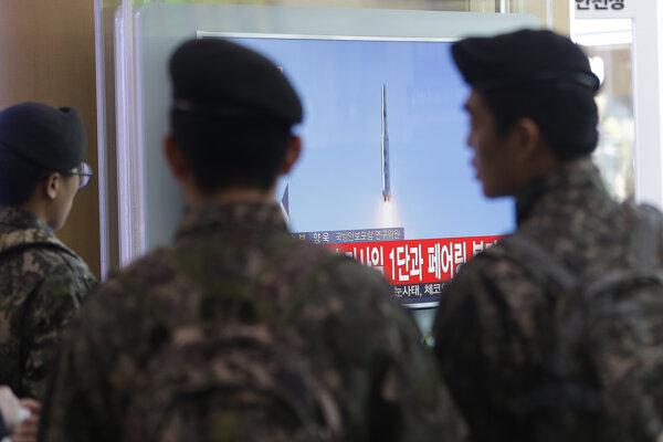 Vypustenie rakety v Severnej Kórey.