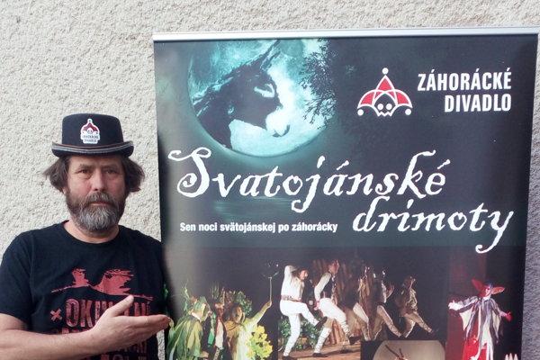Režisér Záhoráckého divadla Ivan A. Fodor.