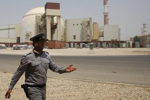 Iránska jadrová elektráreň Bušehr.