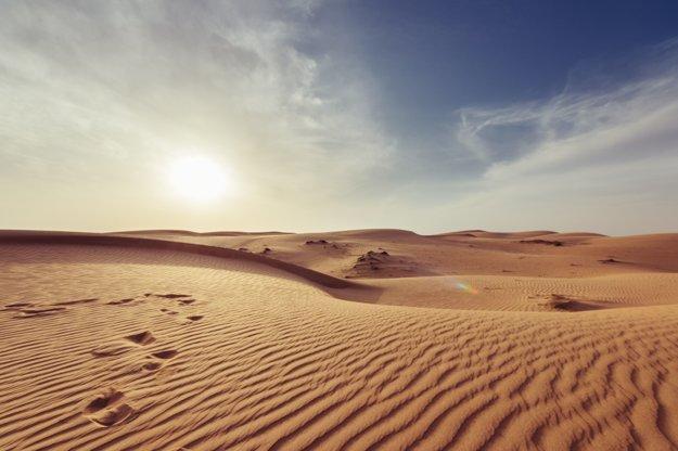 Púštny horizont pri Muscate