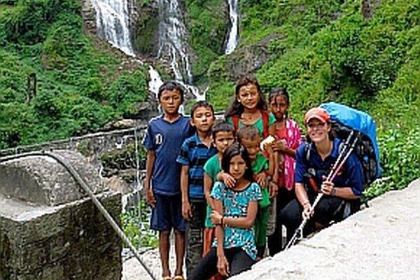 Lenka hovorí, že ľudia v Nepále sú fajn.