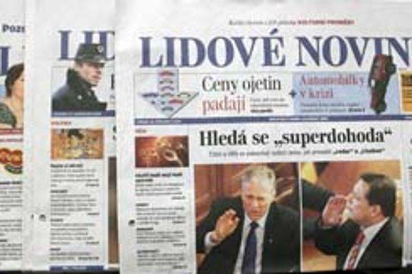 Dnešné Lidové noviny.